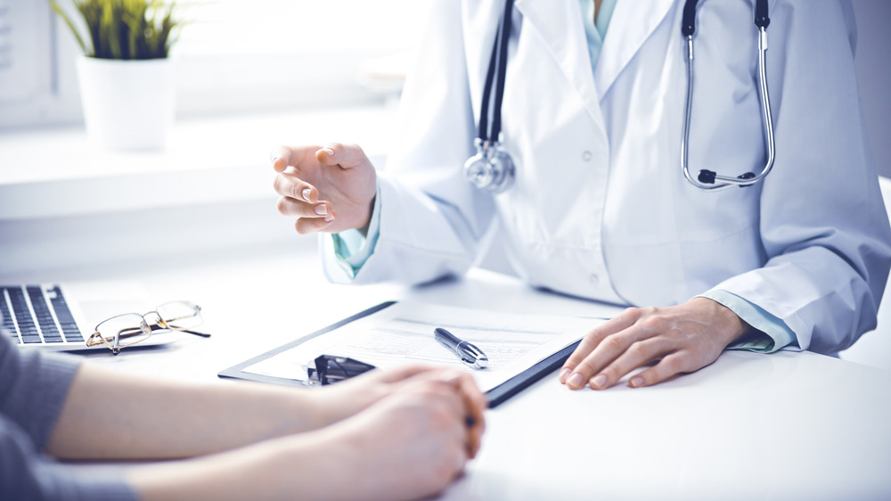 person having doctor's consultation