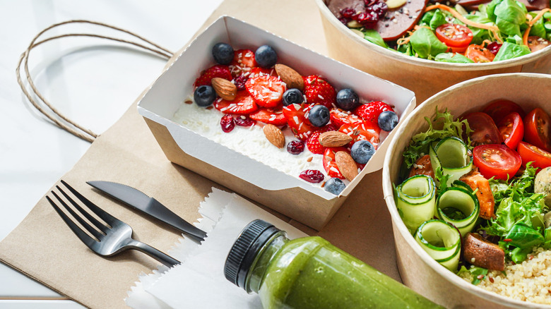 Healthy food on a table