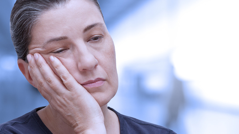 woman with extreme fatigue
