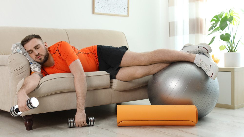 Man Sleeping After Exercise